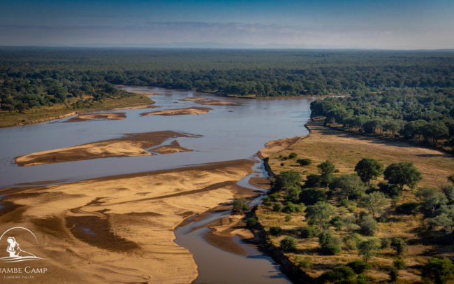 Aerial views of the Luangwa River