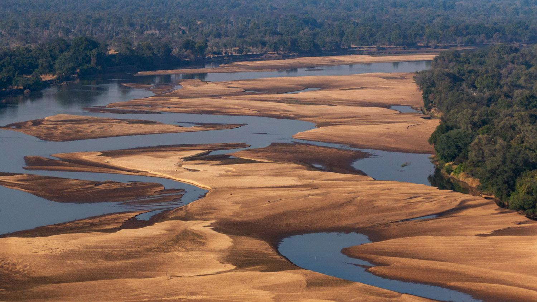 Luambe Luangwa Valley Aerial Viewsuambe National Park Luangwa Valley Zambia