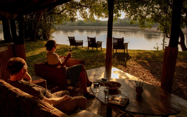 Lounge views overlooking the Luangwa River
